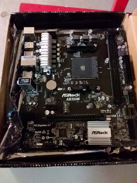 Lot 77 ASROCK AB350M MOTHERBOARD