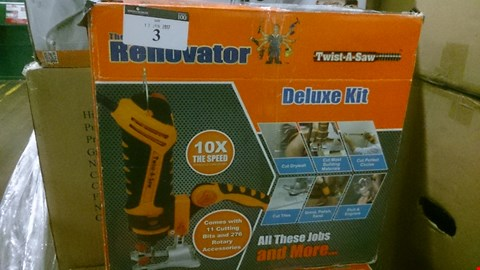 Lot 3 BOXED RENOVATOR DELUXE KIT TWIST A SAW