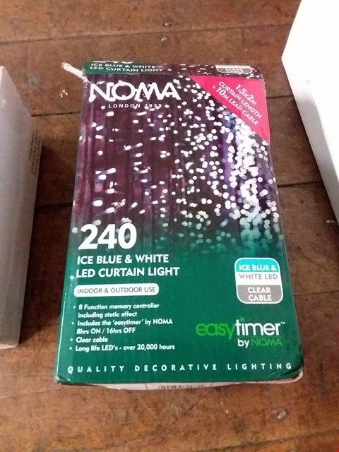 Lot 2080 LOT OF 5 GRADE 1 ITEMS TO INCLUDE NOMA 240 LIGHT SET, LED CANDLES SET, RESIN REGAL STAG ETC RRP £65