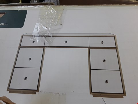 Lot 12265 BOXED DESIGNER MIRRORED THREE DRAWER DRESSING TABLE TOP