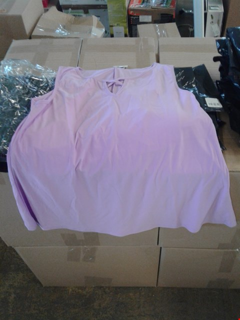 Lot 942 LOT OF APPROXIMATELY 15 MEDIUM LAVENDER STYLED BY NOTCH FRONT CAMI TOPS