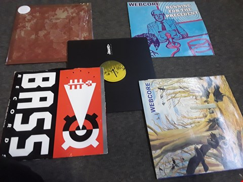 Lot 2515 10 ASSORTED VINYL RECORDS TO INCLUDE; WEBCORE, GIRL IN RED ETC