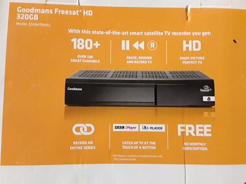 Lot 948 GOODMANS FREESAT+ HD 320 GB SMART SATELLITE TV RECORDER