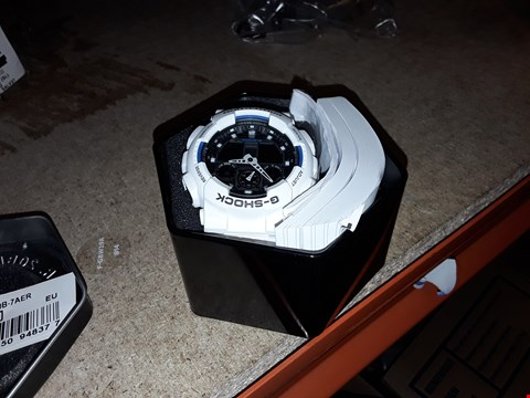 Lot 9322 CASIO BLACK DIAL AND WHITE CASE MENS WATCH RRP £109.00