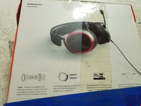 Lot 45 STEELSERIES ARCTIS PRO - GAMING HEADSET - HI-RES SPEAKER DRIVERS - DTS HEADPHONE:X V2.0 SURROUND