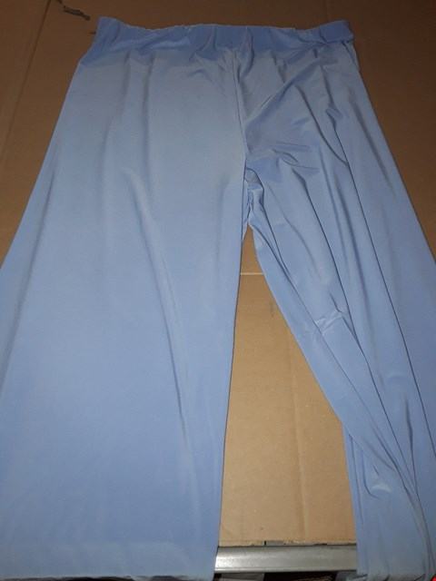 Lot 7689 BOX OF APPROXIMATELY 101 SIDE SPLIT PALAZZO TROUSERS - BLUEBERRY, LARGE
