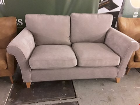 Lot 2024 QUALITY BRITISH DESIGNER MINK FABRIC 2 SEATER SOFA