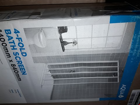 Lot 1789 BOXED GRADE 1 AQUALUX 4 FOLD SHOWER SCREEN 1400MM x 840MM RRP £129.99