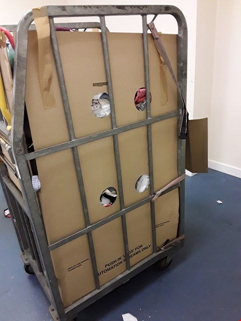 Lot 8090 CAGE OF A SIGNIFICANT QUANTITY OF ASSORTED UNPROCESSED DESIGNER KIDS CLOTHING ITEMS TO INCLUDE MAMAS&PAPAS, DESIGNER ONESIES, JOHN LEWIS ETC
