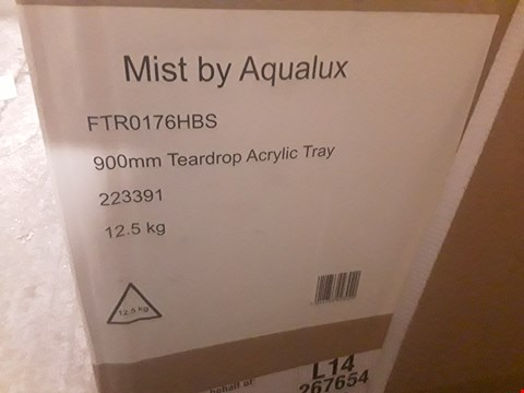 Lot 55 BOXED AQUALUX MIST TEARDROP ACRYLIC TRAY