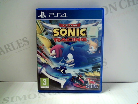 Lot 5801 TEAM SONIC RACING PLAYSTATION 4 GAME
