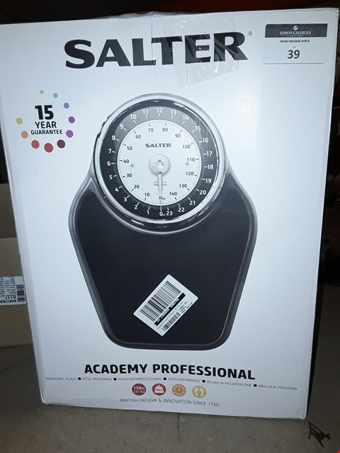 Lot 39 SALTER ACADEMY PROFESSIONAL PERSONAL SCALE  RRP £100.00
