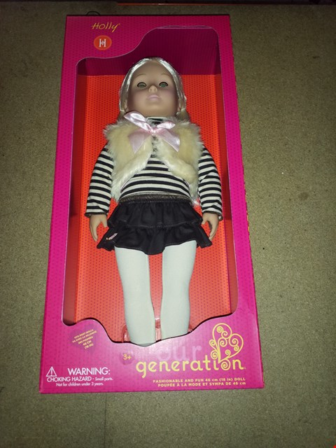 Lot 440 BRAND NEW OUR GENERATION HOLLY DOLL RRP £45.00