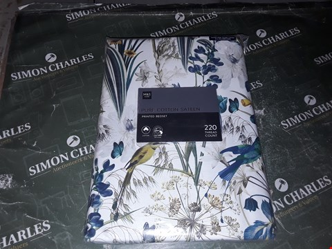 Lot 1333 M&S HOME PURE COTTON SATEEN PRINTED SUPERKING BED SET
