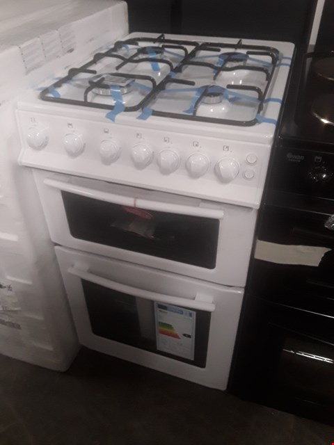 Lot 69 SWAN SX2071W WHITE DOUBLE OVEN GAS COOKER RRP £300