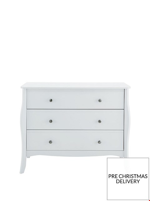 Lot 3504 BOXED WHITE PAINTED 3 DRAWER CHEST