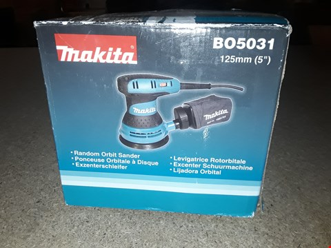 Lot 1654 MAKITA RANDOM ORBIT SANDER BO5031