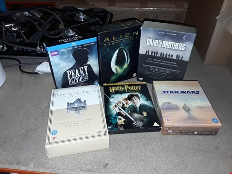 Lot 4092 JOB LOT OF ASSORTED DVD BOXSETS AND GAMES TO INCLUDE HARRY POTTER, ALIEN, STARWARS (4 BOXES)