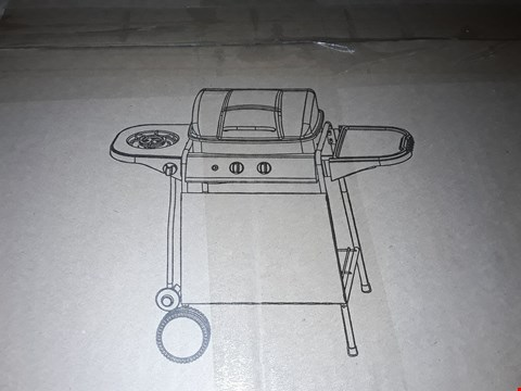 Lot 59 BOXED 2 BURNER GAS BBQ WITH SIDE BURNER RRP £109.99