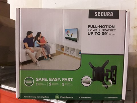 Lot 15300 BOX OF 2 BRAND NEW SECURA FULL MOTION TV WALL BRACKETS RRP £60.00