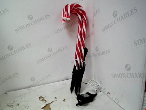 Lot 13084 SET OF 6 CANDY CANE GARDEN STAKE  RRP £39.99
