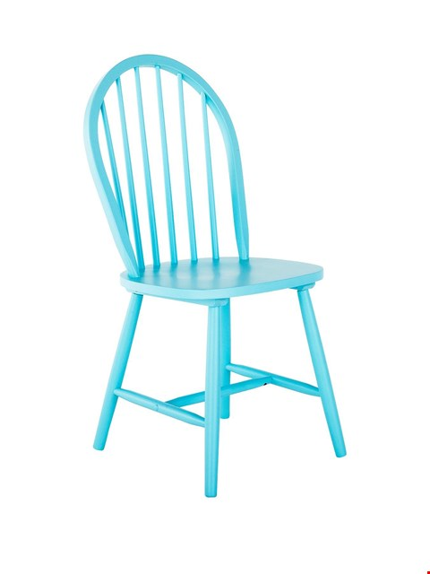 Lot 215 BRAND NEW BOXED BLUE DAISY DINING CHAIR (1 BOX) RRP £49.00