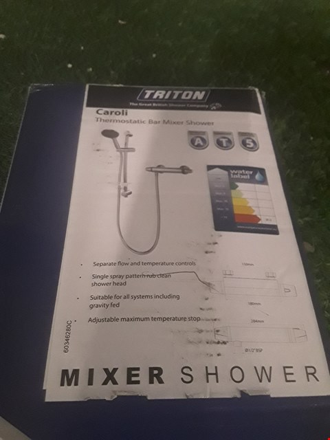 Lot 9 BOXED TRITON CAROLI THERMOSTATIC BAR MIXER SHOWER