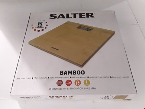 Lot 17205 BOXED SALTER BAMBOO PERSONAL SCALE