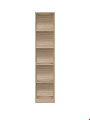 Lot 7047 BOXED GRADE 1 METRO TALL HALF WIDTH BOOKCASE OAK ( 1 BOX )