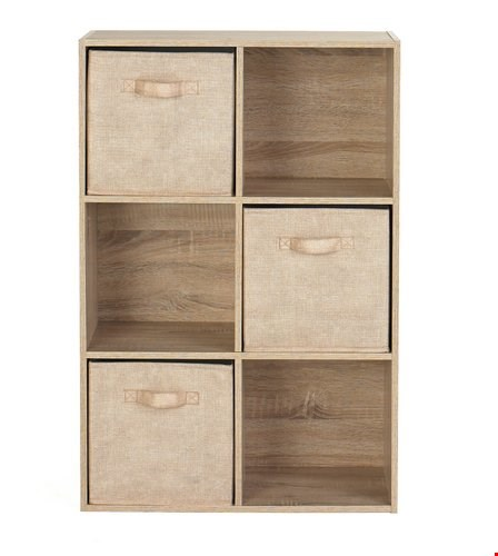 Lot 50 OAK-EFFECT 6 CUBE UNIT (1 BOX)