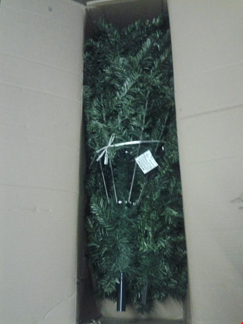Lot 133 2 BOXED ITEMS INC FRETWORK WOPD VILLAGE AND CALGARY PRE LIT CHRISTMAS TREE  RRP £195.00