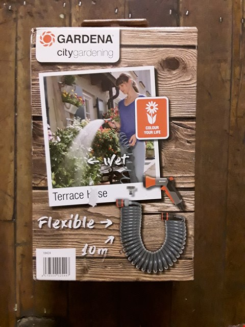 Lot 1463 BRAND NEW GARDENA 10M CITY GARDEN SPIRAL HOSE RRP £32