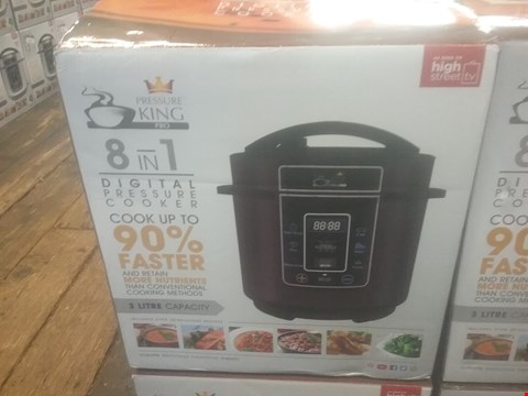 Lot 137 BOXED PRESSURE KING PRO 3L 8 IN 1 DIGITAL PRESSURE COOKER