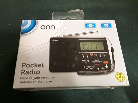 Lot 1197 BOXED ONN POCKET RADIO