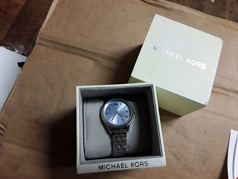 Lot 3109 MICHEAL KORS LEXINGTON BLUE TEXTURED WATCH RRP £192.00