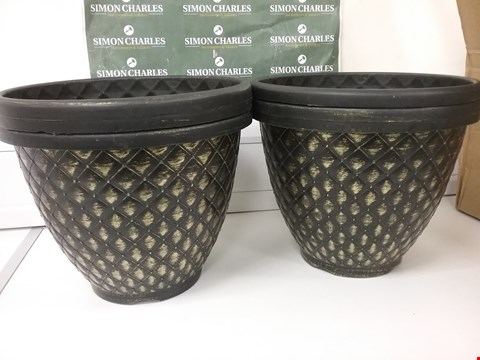 Lot 6035 GRADE 1 PACK OF 6 X 11 INCH (27CM) PINECONE PLANTERS RRP £25.00