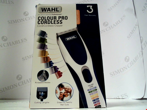 Lot 5517 WAHL COLOUR PRO CORDLESS CLIPPER