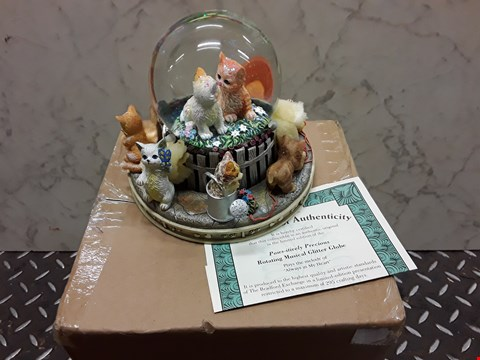 Lot 4462 PAWS-ITIVELY PRECIOUS ROTATING MUSICAL GLITTER GLOBE