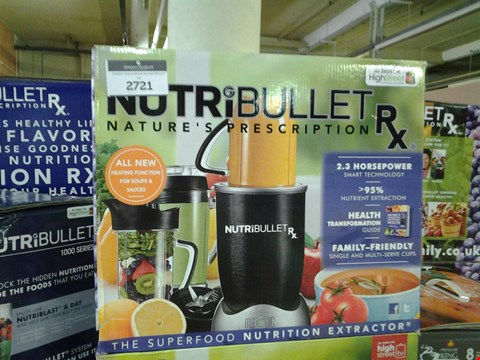 Lot 166 BOXED NUTRIBULLET RX NUTRITION EXTRACTOR WITH HEATING FUCTION FOR SOUPS AND SAUCES  RRP £199.99