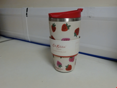Lot 3023 Cath Kidston Bamboo Travel Cup Sweet Strawberry