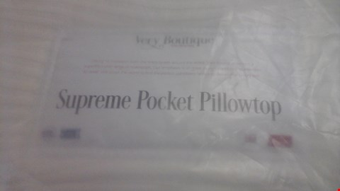 Lot 1286 QUALITY BAGGED VERY BOUTIQUE SUPREME POCKET PILLOWTOP 4'6'' MATTRESS