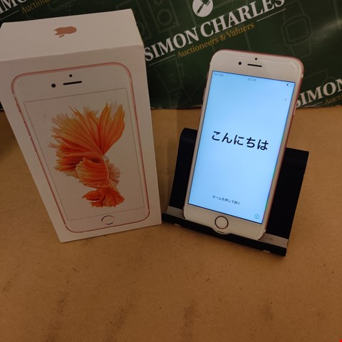 Lot 52 APPLE IPHONE 6 MN122 32GB ROSE GOLD