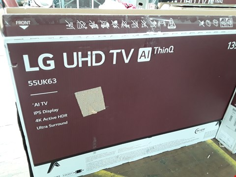 "Lot 1008 TOSHIBA 55"" 4K ACTIVE UHD THINQ ULTRA SOUND TELEVISION MODEL 55UK6300PLB"