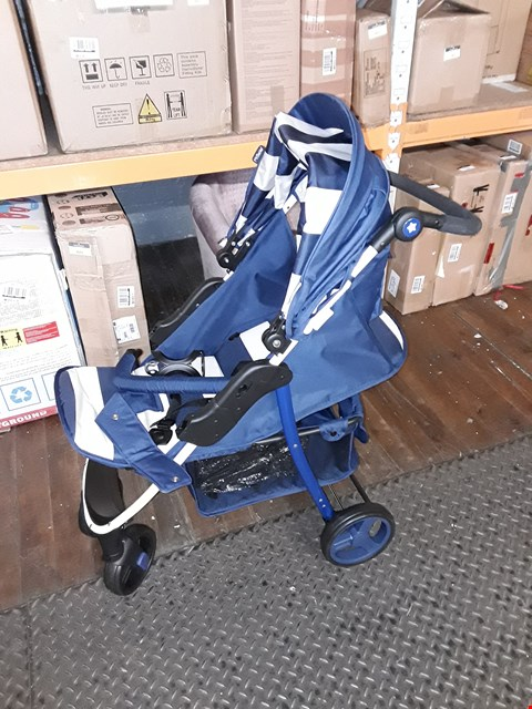 Lot 825  MY BABIIE BILLIE FAIERS MB30 BLUE STRIPES PUSHCHAIR RRP £155