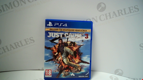 Lot 18006 JUST CAUSE 3 PLAYSTATION 4 GAME