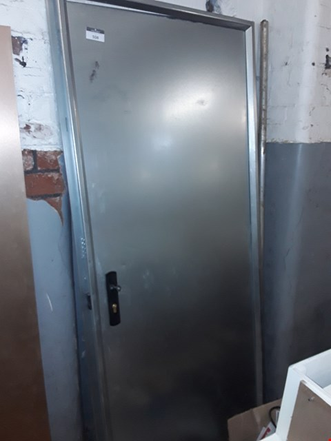 Lot 508 GALVANISED METAL SECUTIRY DOOR WITH FRAME