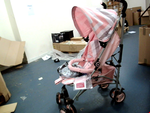 Lot 10182 MY BABIIE MB02 PINK CHEVRON STROLLER RRP £130.00