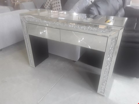 Lot 97 DESIGNER MIRRORED CONSOLE TABLE FITTED 2 DRAWERS