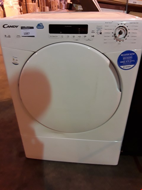 Lot 1087 CANDY WHITE 9Kg SMART TOUCH TUMBLE DRYER