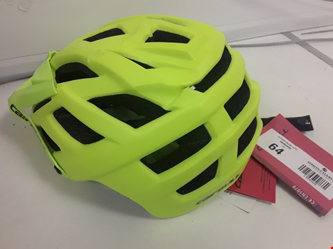 Lot 64 UNBOXED CAIRBULL NEON SAFETY HELMET SIZE 56-61cm